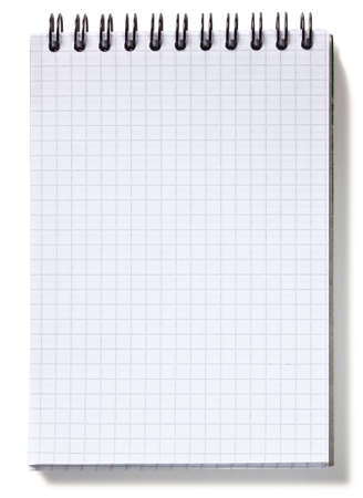 Small spiral notebook, isolated on white background