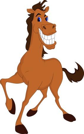 Illustration pour funny horse cartoon - image libre de droit