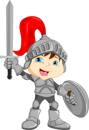 Illustration for Cartoon knight boy - Royalty Free Image