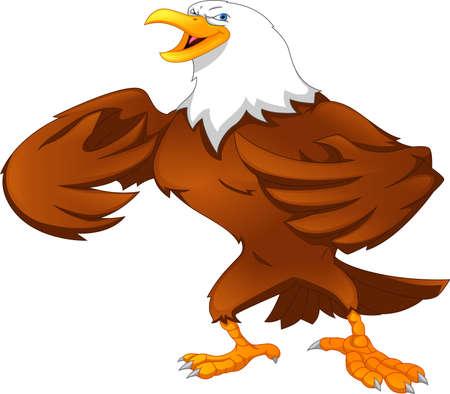 Illustration for eagle cartoon - Royalty Free Image