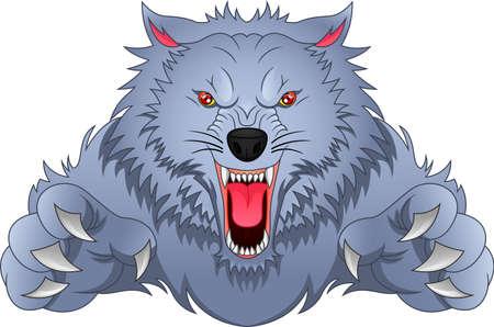 Illustration pour wolf cartoon - image libre de droit