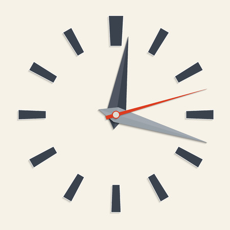 Vector illustration of analog clock face for your design