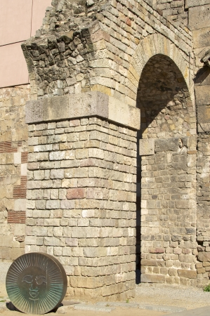 Remains of the Roman aqueduct in Barcelona