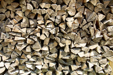 Firewood stacked up at a farm in Austria. Timber economy is a major economic factor in Austria