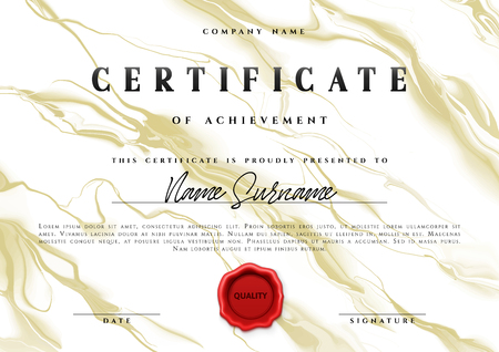 Template design of the certificate. Vector diploma