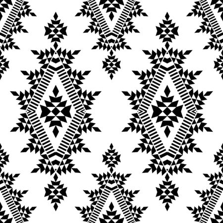 Illustration pour Ethnic boho seamless pattern. Lace. Embroidery on fabric. Patchwork texture. Weaving. Traditional ornament. Tribal pattern. Folk motif. Can be used for wallpaper, textile, wrapping, web.  - image libre de droit