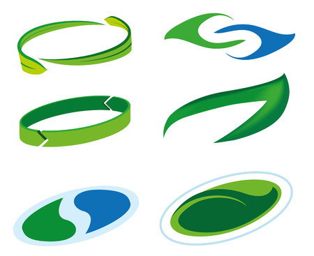 Icon or symbol of sustainability, green leaf and rock in water drop. Ideal for informational and institutional related ecology and environment