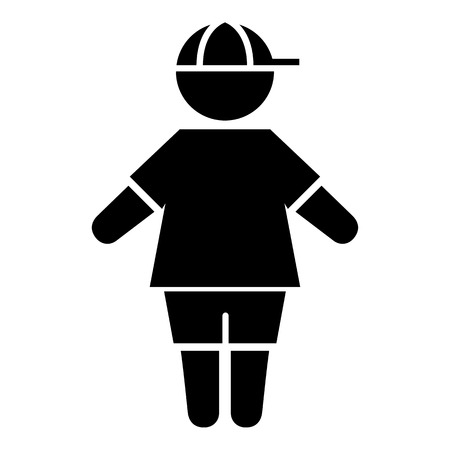 Icon pictogram boy child gender. Ideal for catalogs, informative and institutional materials