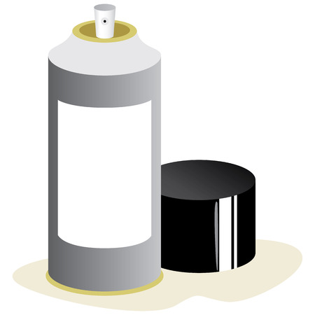 Illustration of an aerosol spray can. Ideal for promotional materials and catalogs