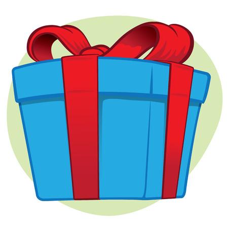 Ilustración de Illustration representing a gift box - Imagen libre de derechos