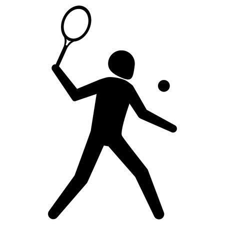 Ilustración de Illustration is tennis sport pictogram, racquetball. Ideal for sports and institutional materials - Imagen libre de derechos