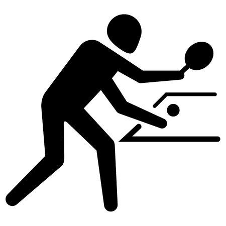 Ilustración de Illustration depicts pictogram of sport table tennis, game of ping pong. Ideal for sports and institutional materials. - Imagen libre de derechos