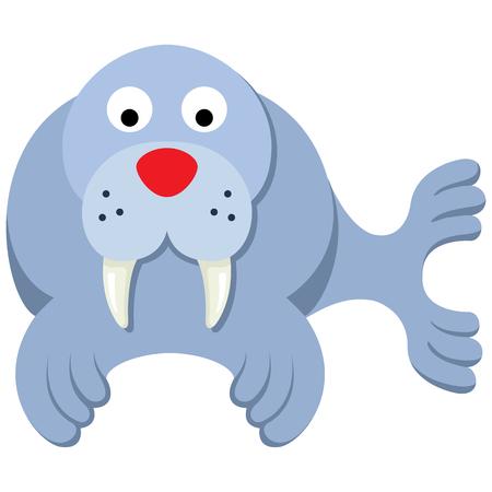 Ilustración de Illustration representing icon mascot walrus. Ideal for veterinary materials, biology and zoology - Imagen libre de derechos