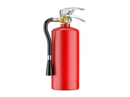 Fire Extinguisher  3d image on a white background