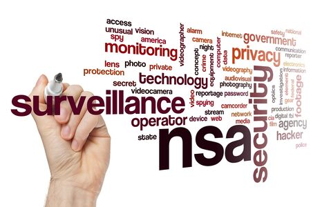 Photo for NSA word cloud concept - Royalty Free Image