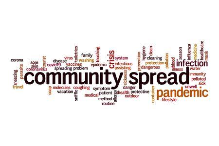 Photo pour Community spread word cloud concept on white background - image libre de droit