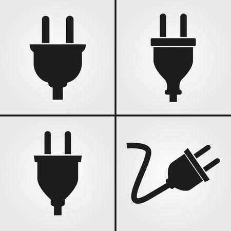 Illustration pour Electric Plug Icons - image libre de droit