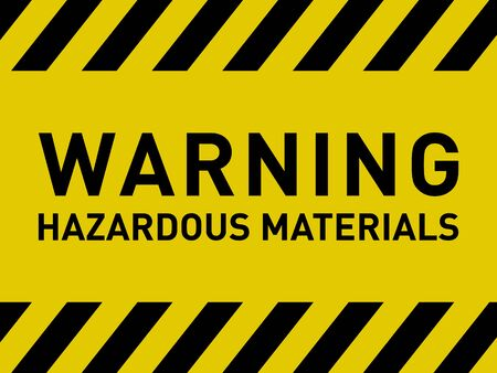 Illustration pour Warning Hazardous Materials Caution Sign Vector - image libre de droit