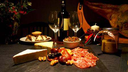 Spanish festive gourmet table christmas