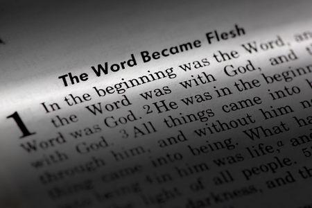 Photo pour John 1:1 - The word became flesh. Popular New Testament passage - image libre de droit