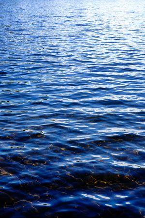 Photo pour A slight water ripple on a lake - image libre de droit