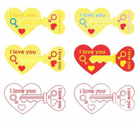 Ilustración de Keys for your heart - Imagen libre de derechos