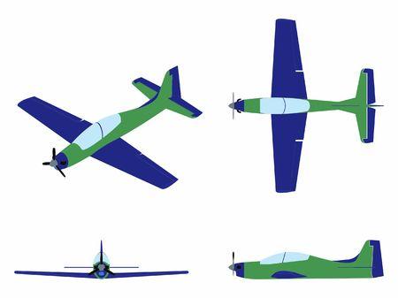 Airplane Tucano colored.