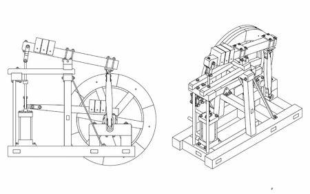 Illustration pour Wood Beam Engine outline only - image libre de droit
