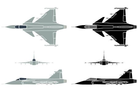 New Brazilian Military Fighter Plane. Without outline