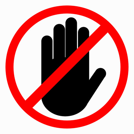 The crossed hand in a red circle.  Hand ban