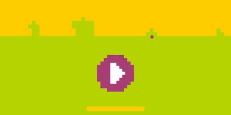 Illustration pour 8 bit pixel art platformer game asset. Play pixel retro background. - image libre de droit