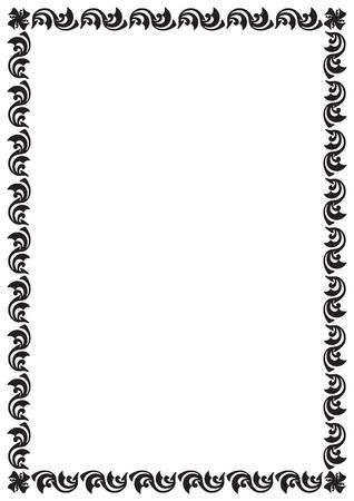 Vintage pattern style page border