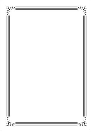 Ilustración de Vintage pattern style page border - Imagen libre de derechos