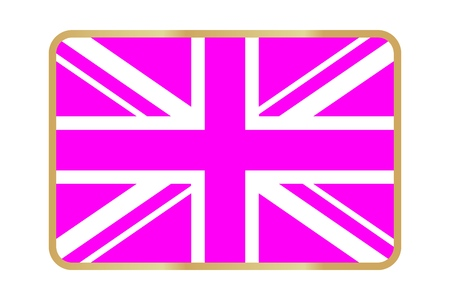 Vector Reproduction flag of UK simple design icon