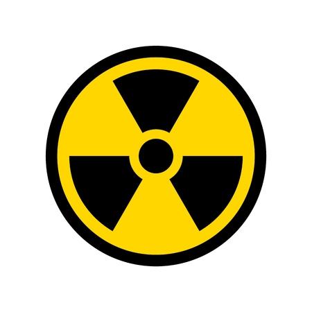 Illustration pour Vector Reproduction of Radioactive symbol simple design icon - image libre de droit