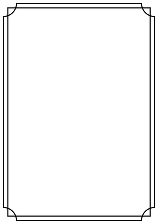 Illustration for A4 paper design vintage style page border - Royalty Free Image