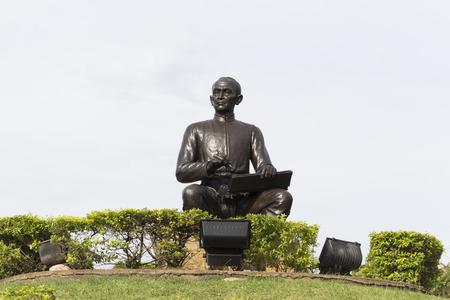 Rayong, Thailand -Aug 22.2017 :TSunthon Phu statue in Rayong Thailand
