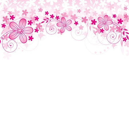 Ilustración de Abstract background with flowers and spase for your text - Imagen libre de derechos