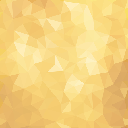Illustration for Golden Poly Background. Vector Polygon Abstract modern Polygonal Geometric Triangle Background. Modern low poly abstract halftone triangular background - Royalty Free Image