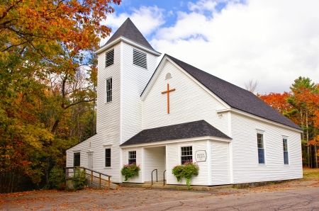 Country church in New England