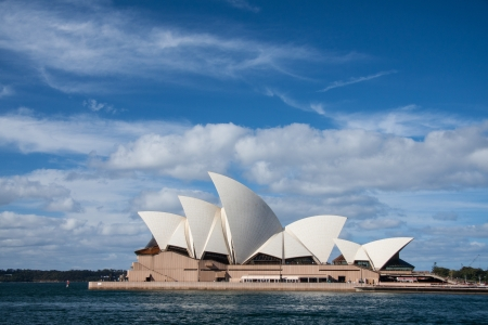Opera house in blue sky