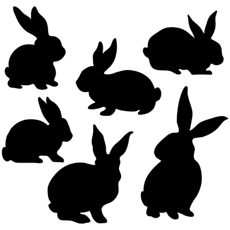 Illustration for Easter Bunny Silhouette - Royalty Free Image