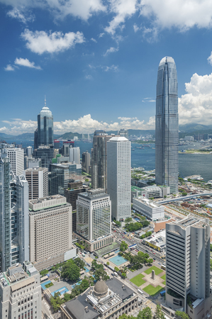 Photo for Aerial View of Hong Kong City - Royalty Free Image