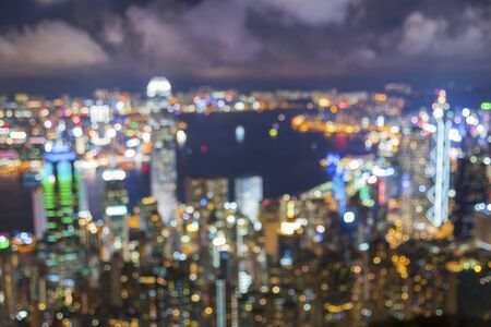 Photo for Blurry city light. Urban background - Royalty Free Image