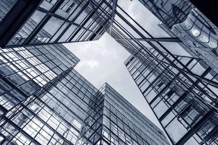 Photo pour Exterior of office building. Modern architecture abstract background - image libre de droit