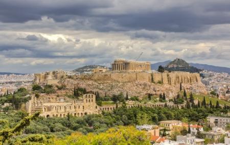 Acropolis under a dramatic sky Athens Greece