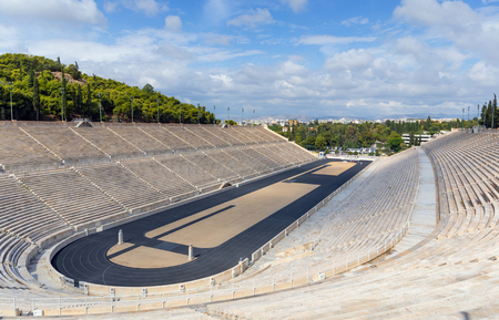 Photo for The Panathenaic Stadium, it hosted the first modern in 1896, Athens, Greece. - Royalty Free Image