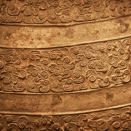 Ancient Chinese bronze textured background
