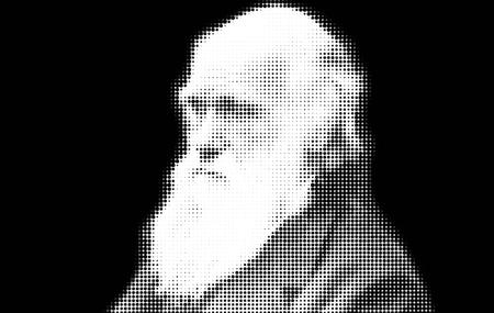Foto de Charles Darwin Portrait Artistic - Imagen libre de derechos