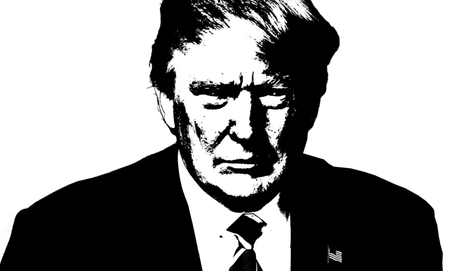 Donald Trump Black and White Artistic